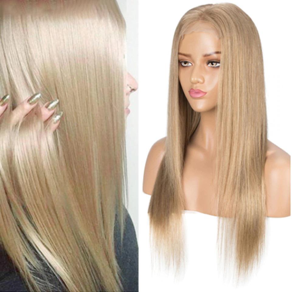 Ombre Blonde Brazilian Straight Human Hair Wigs