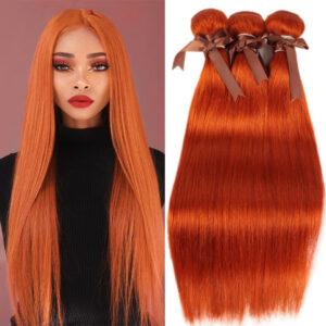 Colored Human Hair Bundles Straight Brazilian Hair