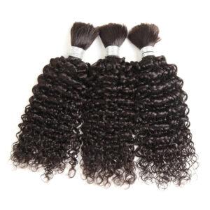 3 Bundles Human Braiding Hair Bulk Hair