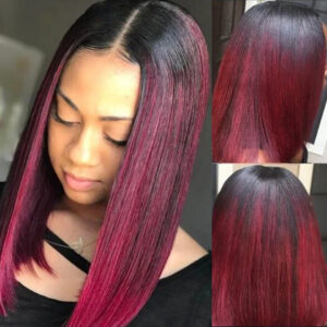 Bob Wig Straight Lace Front Wig Ombre