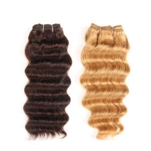 Brazilian Deep Wave Human Hair Weave Bundles