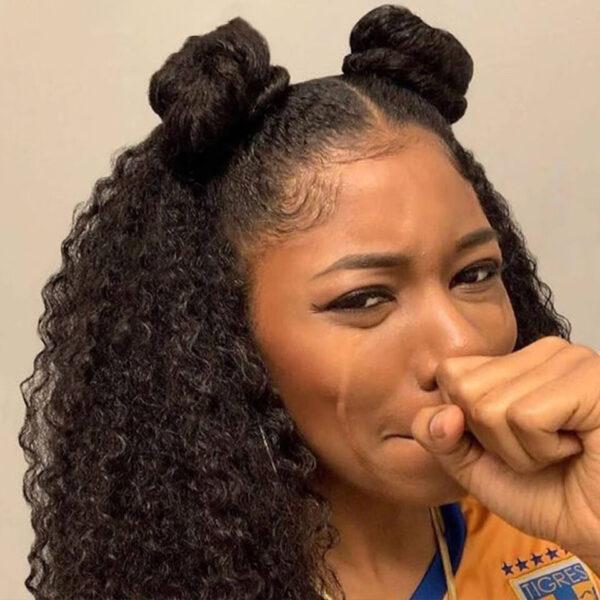 Brazilian Kinky Curly Human Hair Wig Preplucked