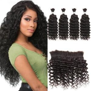 Malaysian Deep Wave 4 Pcs Human Hair
