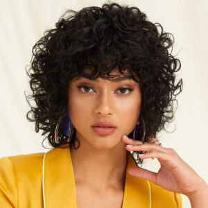 Short Curly Human Hair Wigs For Black