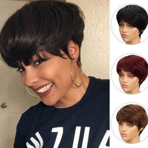 Short Cut Straight Hair Wig Peruvian Remy
